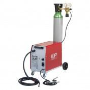RVS / INOX MIG  CO2 WP 15O  + 10 LITER 98/2 MENGGAS + AUTOMATISCHE LASHELM